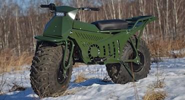 موتورسیکلت دو چرخ گیر روسی با چرخ هایی بزرگ و قابلیت تاشو!