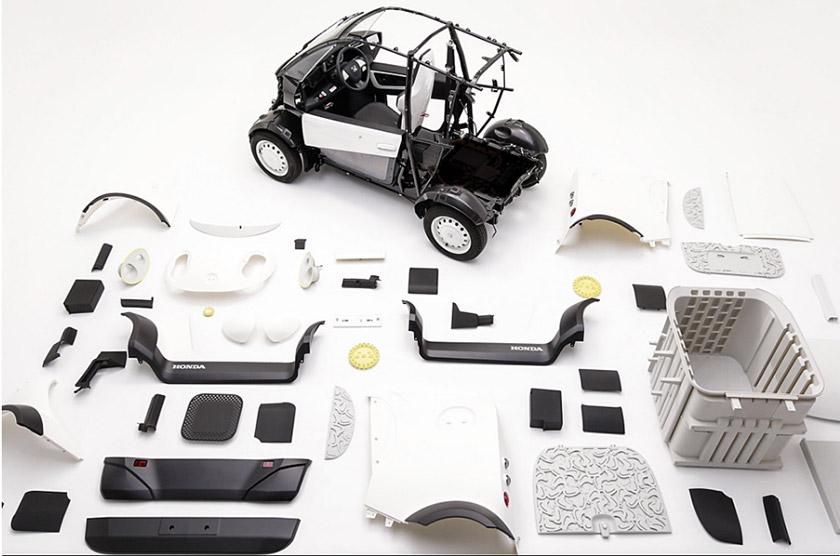 هوندا یک خودروی الکتریکی چاپ سه بعدی تحویل مرسولات ارائه داد