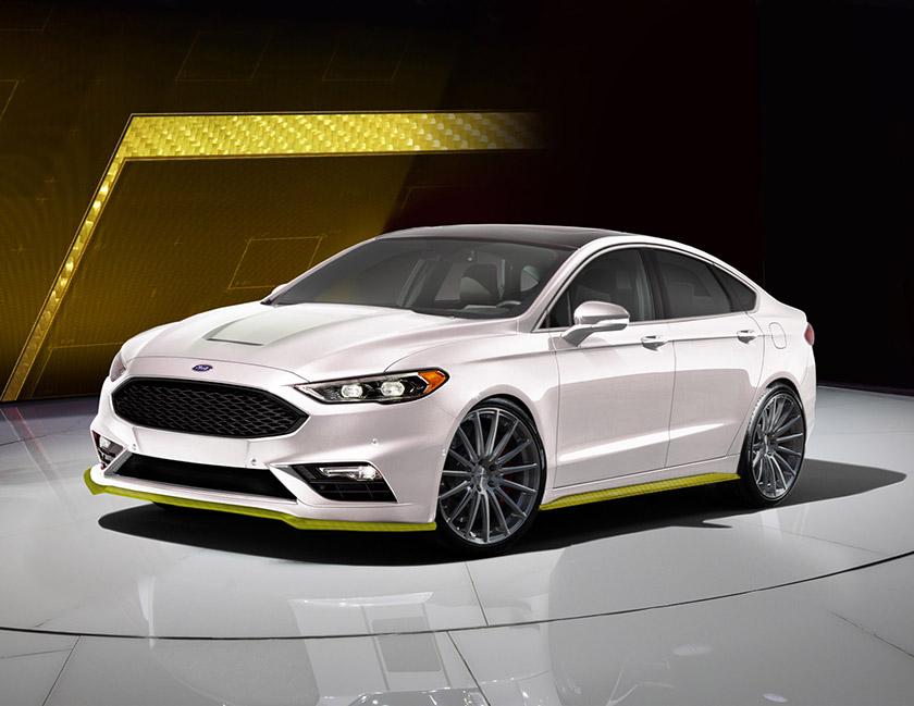 7. Webasto Thermo & Comfort North America با ارائه مدلی مفهومی از فورد فیوژن، پا به این نمایشگاه می گذارند. این خودرو که با استفاده از الیاف کولار (Kevlar) ساخته شده، مجهز به در موتور(Hood) با قابلیت خروج هوای گرم بوده و با رنگ سفید شفاف همراه با لبه های لیمویی رنگ توسط شرکت MRT آراسته شده است.
