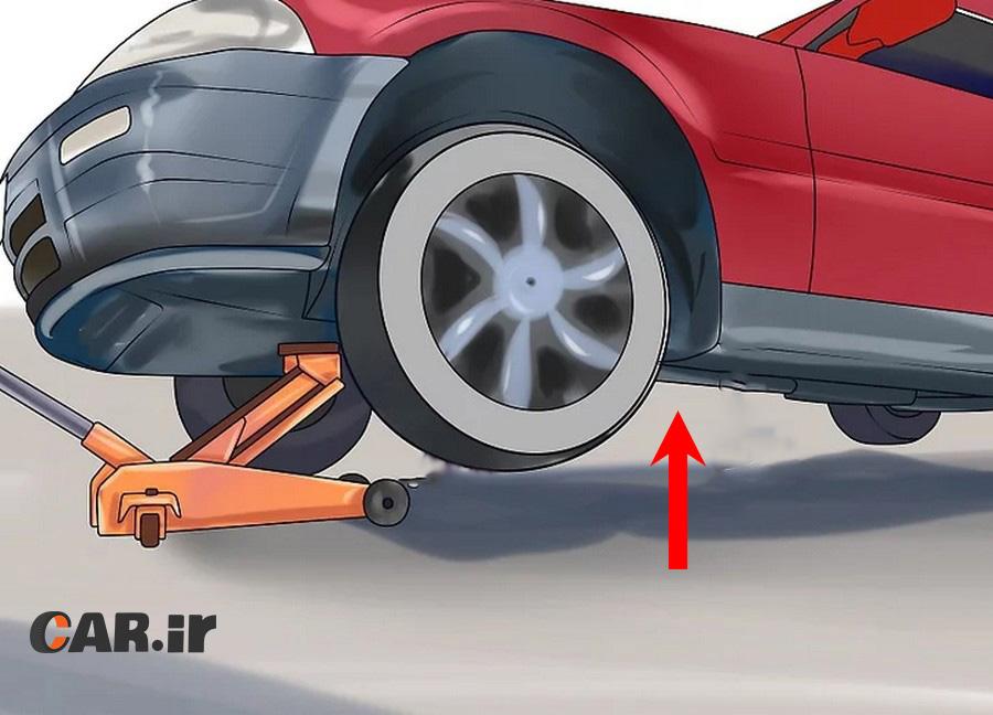 چگونه لاستیک پنچر خودرو خود را تعویض کنیم؟ آموزش گام به گام