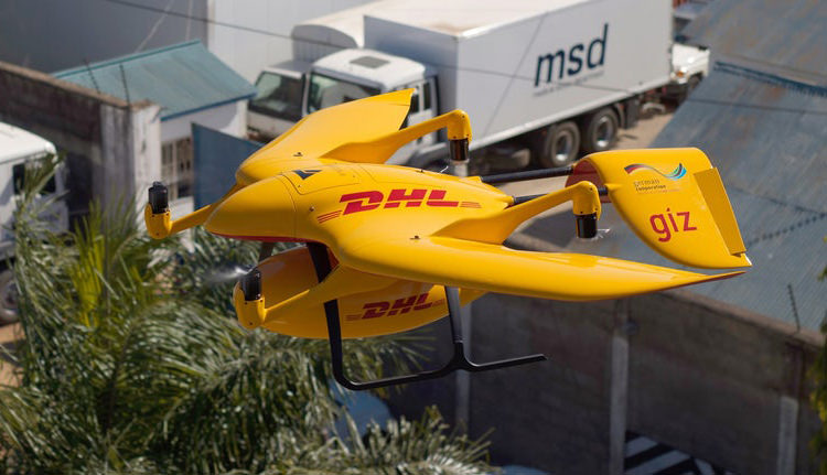 DHL Parcelcopter delivery drone / هواپیمای خودران تحویل پارکلکوپتر DHL