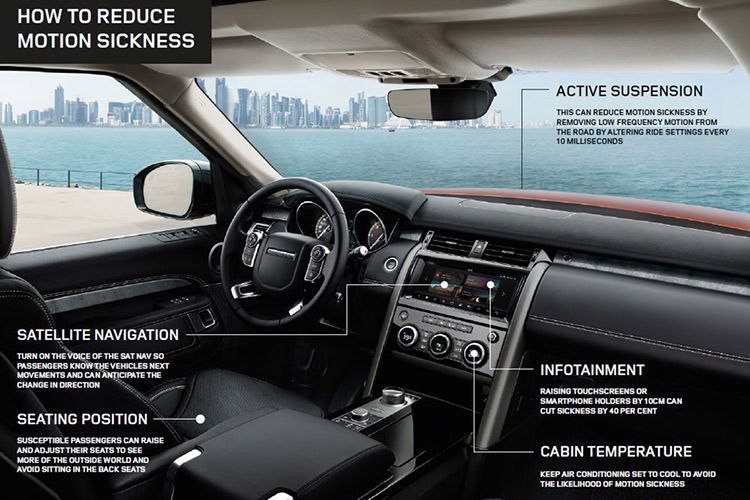 Jaguar Land Rover motion sickness nausea / جگوار لندرور بیماری حرکت دریازدگی حالت تهوع