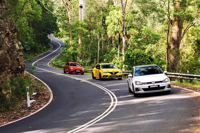 Volkswagen Golf GTI/Hyundai i30 N/Renault Megane RS