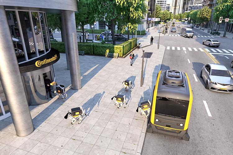 Continental Autonomous car / خودرو خودران روبات کنتیننتال