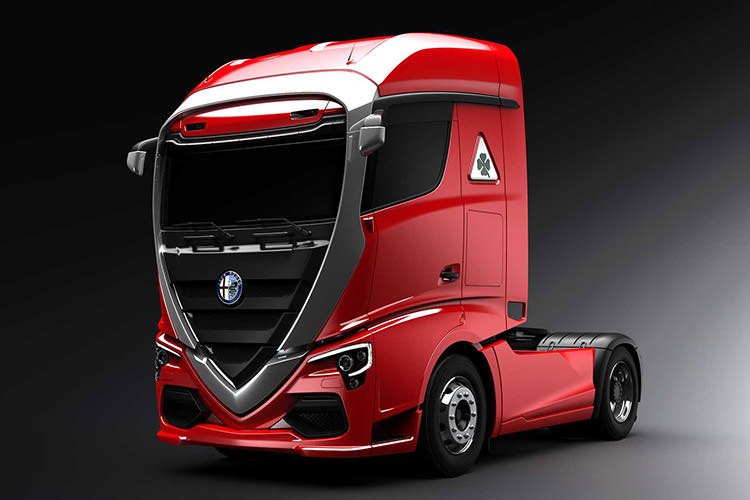Alfa Romeo Truck / رندر کامیون کشنده آلفا رومئو