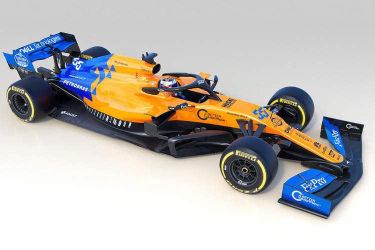 McLaren 2019 F1 car / خودرو فرمول یک مک لارن