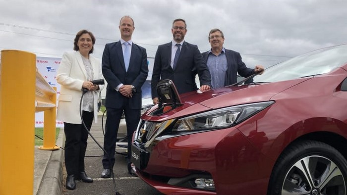 Nissan and CSIRO solar-powered EV charging station