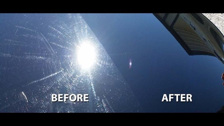 قبل و بعد از سرامیک بدنه خودرو
