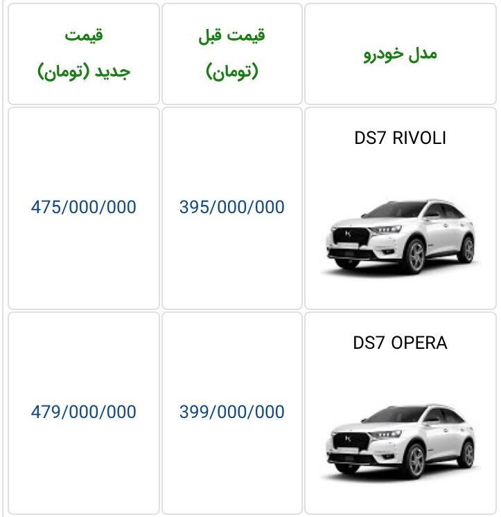 قیمت DS7 در بازار ایران