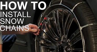 چگونه زنجیر چرخ نصب کنیم؟