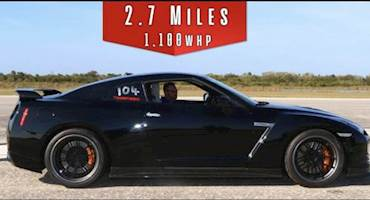 سرعت حیرتانگیز نیسان GT-R هزار و صد اسبی