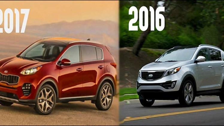 مقایسه  کیا اسپورتیج سال 2016 با 2017