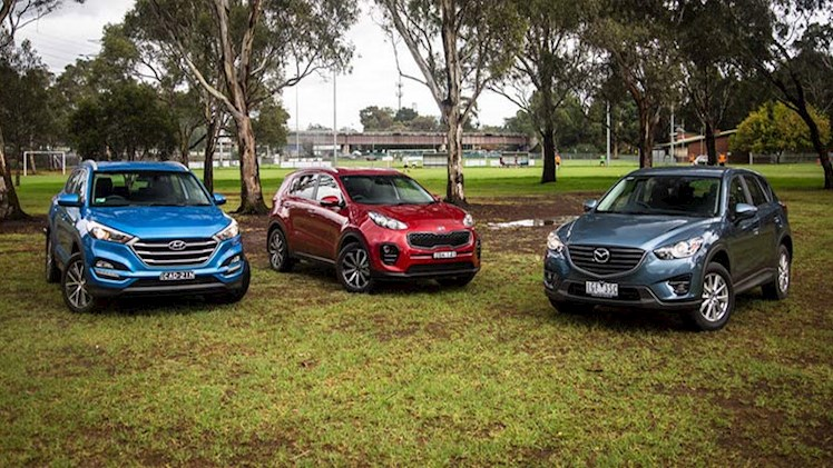 مقایسه سه خودروی شاسی بلند سایز متوسط ؛هیوندای توسان ActiveX، کیا اسپورتیج SLi و مزدا CX-5 Maxx