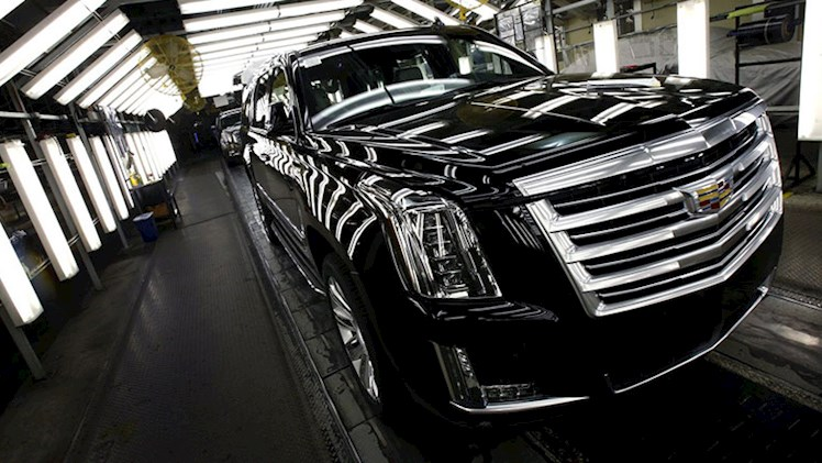 خط تولید اس یو وی جنرال موتورز در سال 2015