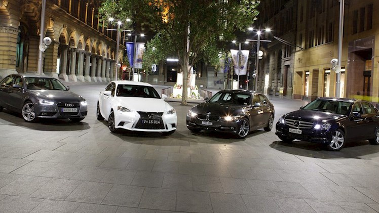 مقایسه آئودی A5 و مرسدس بنز C CLASS COUPE و سری 4 BMW و لکسوس RC