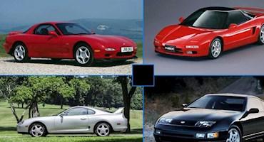 5 خودروی ژاپنی که در دهه 90 فراری را عصبی کردند