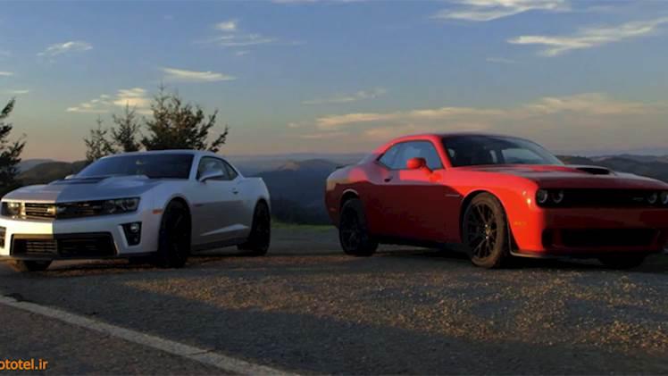 مقایسه Dodge Challenger SRT Hellcat و 2015 Chevrolet Camaro ZL1