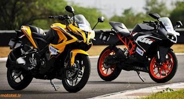 مقایسه Bajaj Pulsar RS 200 با KTM RC 200